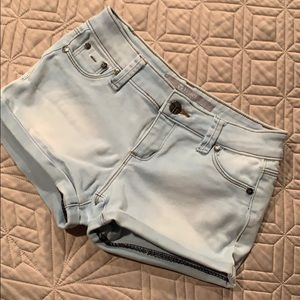 Tractr Sky Blue🐟 Jean Shorts Stretch Size 10-12